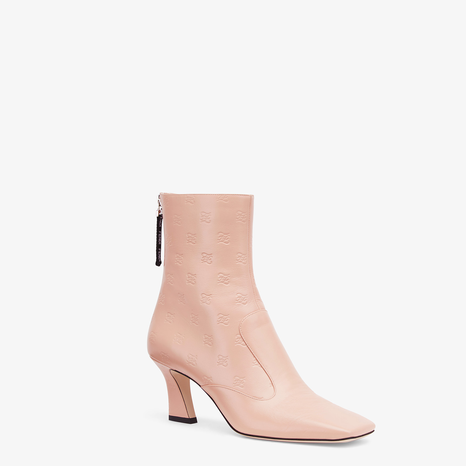FENDI BOOTS - Booties in pink leather - view 2 detail
