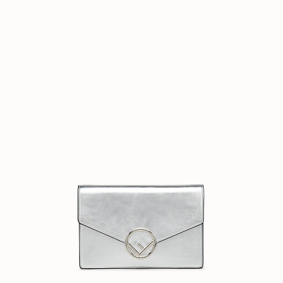 FENDI WALLET ON CHAIN - Silver leather mini-bag - view 1 detail