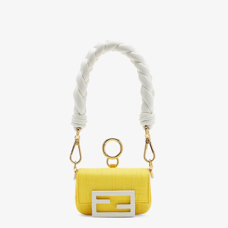 FENDI NANO BAGUETTE CHARM - Yellow nylon charm - view 1 detail