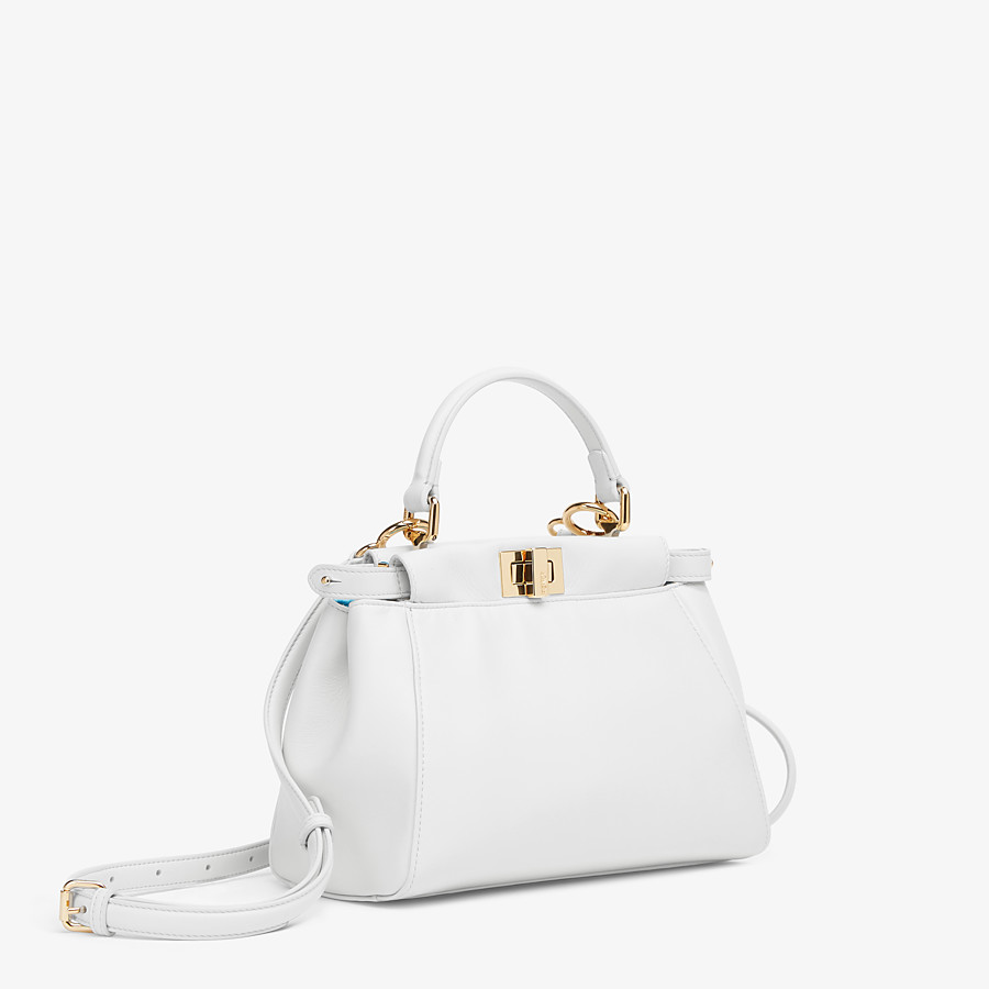 FENDI PEEKABOO ICONIC MINI - White nappa leather bag - view 3 detail