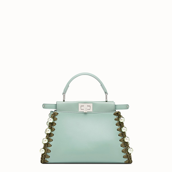 FENDI PEEKABOO MINI - Bolso de piel verde - view 1 small thumbnail