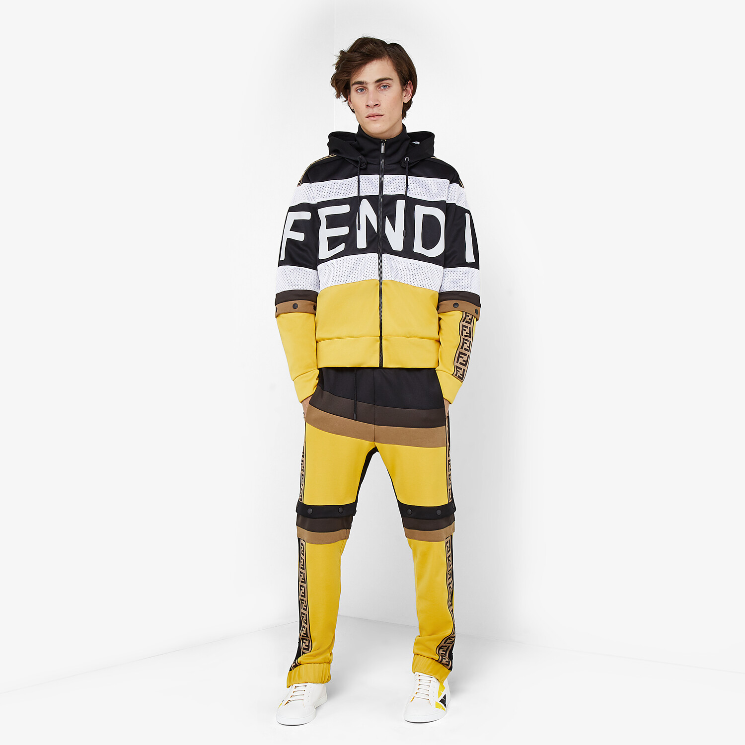 FENDI SWEATSHIRT - Multicolour acetate sweatshirt - view 4 detail