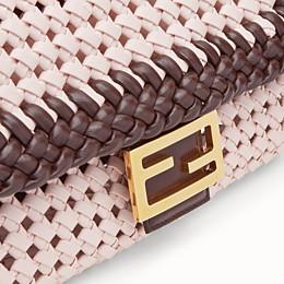 FENDI BAGUETTE - Pink leather interlace bag - view 6 thumbnail