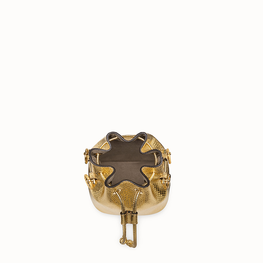 FENDI MON TRESOR - Gold coloured karung mini-bag - view 4 detail