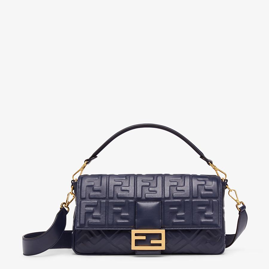 FENDI BAGUETTE LARGE - Tasche aus Nappaleder in Blau - view 1 detail