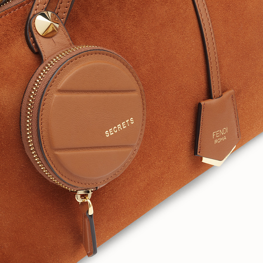 FENDI BY THE WAY MEDIUM - Brown suede Boston bag - view 5 detail