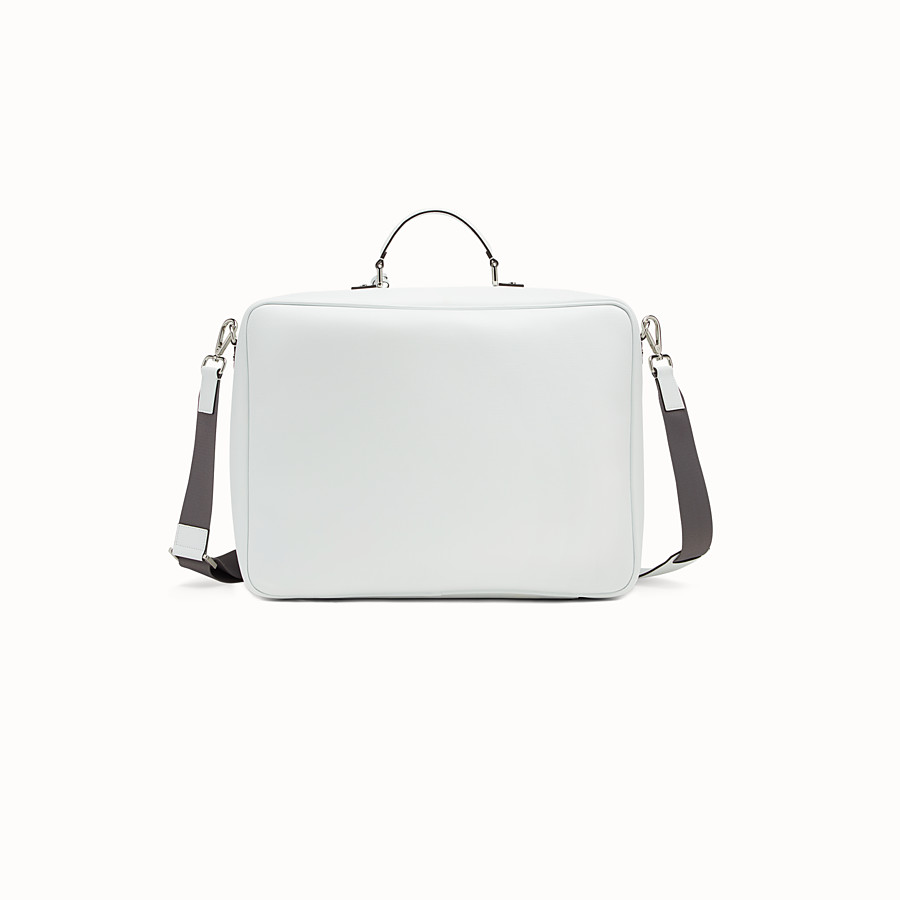 FENDI BABY SUITCASE - White and grey canvas suitcase - view 3 detail