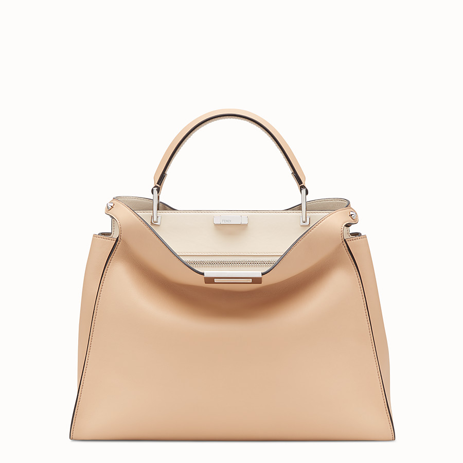 FENDI PEEKABOO ESSENTIAL - Pink leather bag - view 1 detail