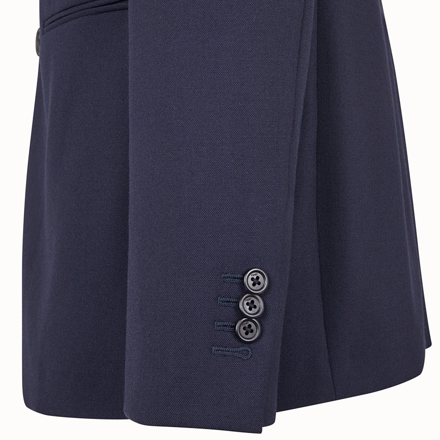 FENDI GIACCA - Blazer in lana blu - vista 4 dettaglio