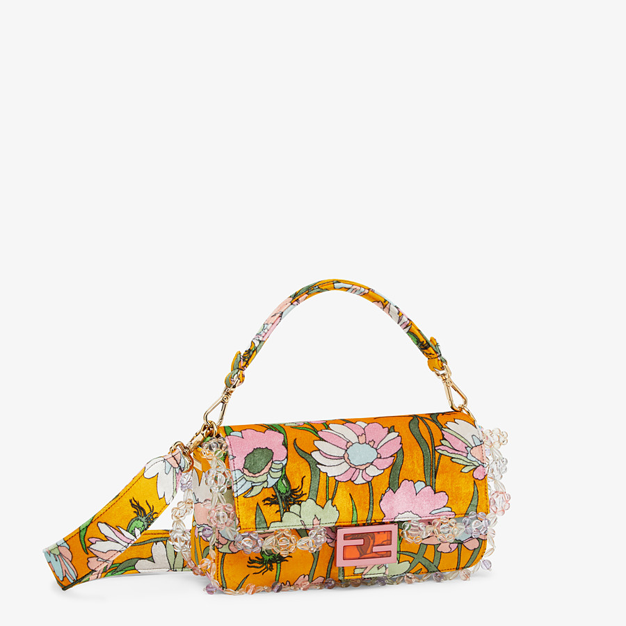 FENDI BAGUETTE - Bag in multicolor chenille - view 3 detail