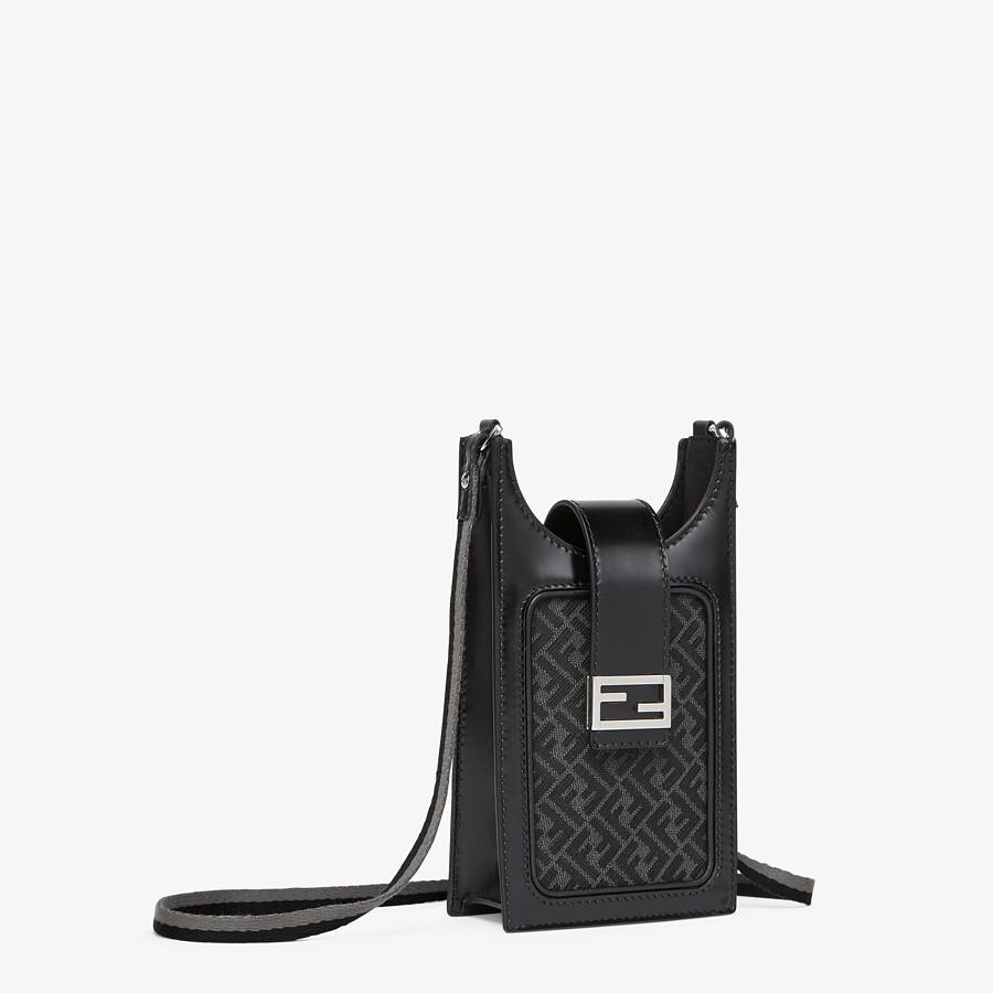 FENDI PHONE BAG - Gray fabric cell phone holder - view 2 detail