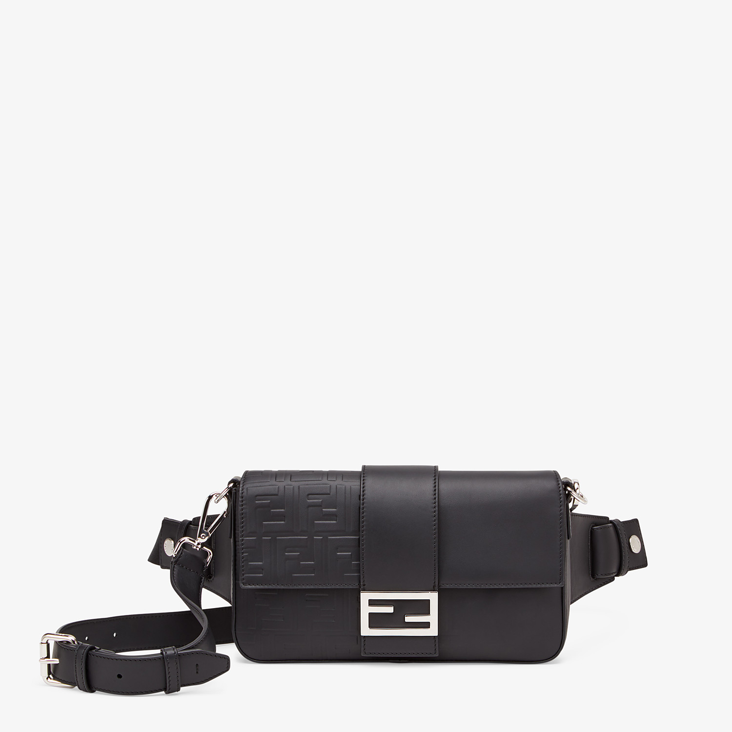 FENDI BAGUETTE - Black calfskin bag - view 1 detail
