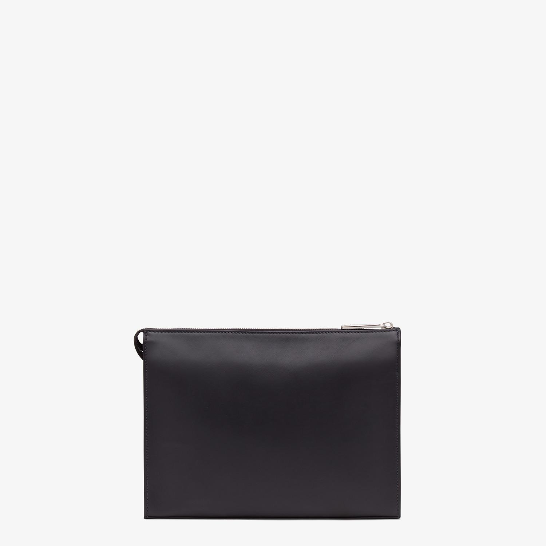 FENDI CLUTCH - Black calf leather pochette - view 3 detail