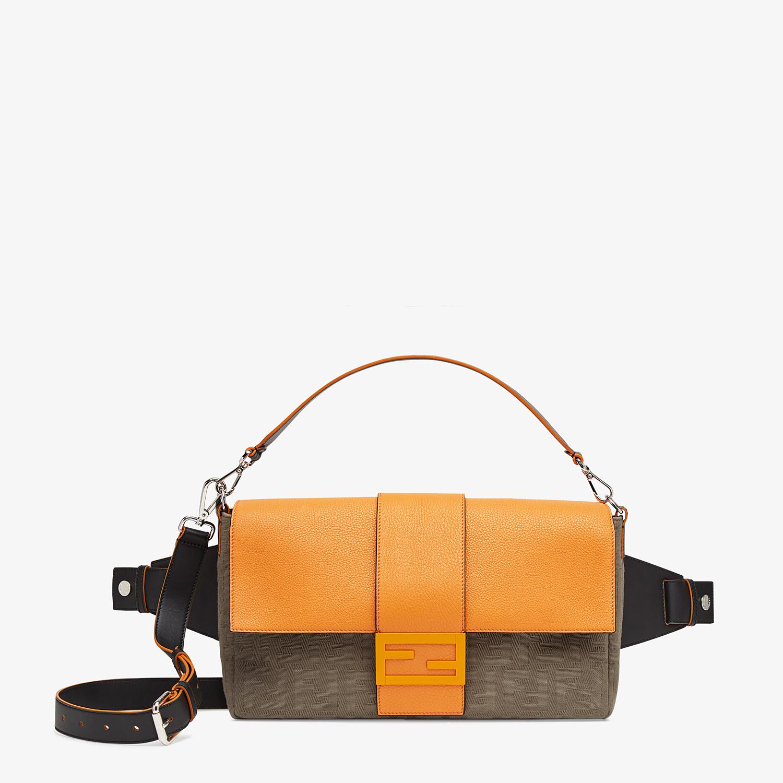 FENDI BAGUETTE LARGE - Brown canvas bag - view 1 detail