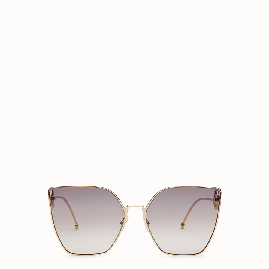 FENDI F IS FENDI - Copper-coloured sunglasses - view 1 detail