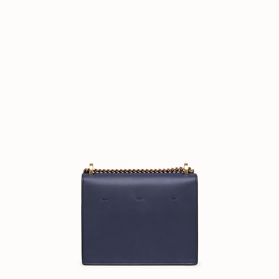 FENDI KAN U SMALL - Blue leather minibag - view 3 detail