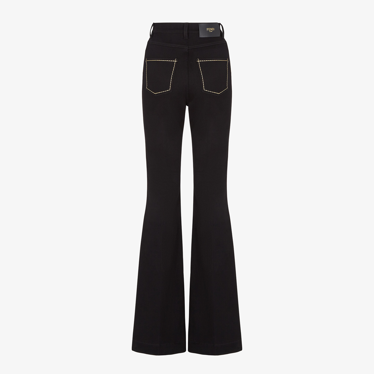 FENDI PANTS - Black denim pants - view 2 detail