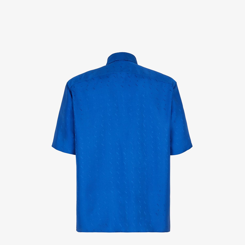 FENDI SHIRT - Blue silk shirt - view 2 detail