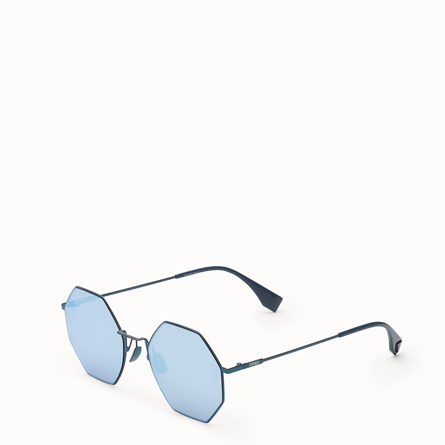FENDI EYELINE - Blue sunglasses - view 2 detail