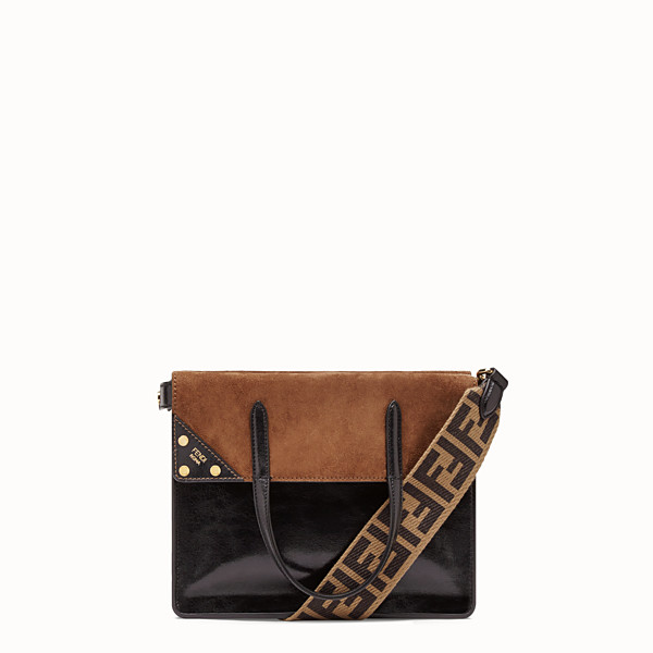 FENDI FENDI FLIP MEDIUM - Black leather bag - view 1 small thumbnail