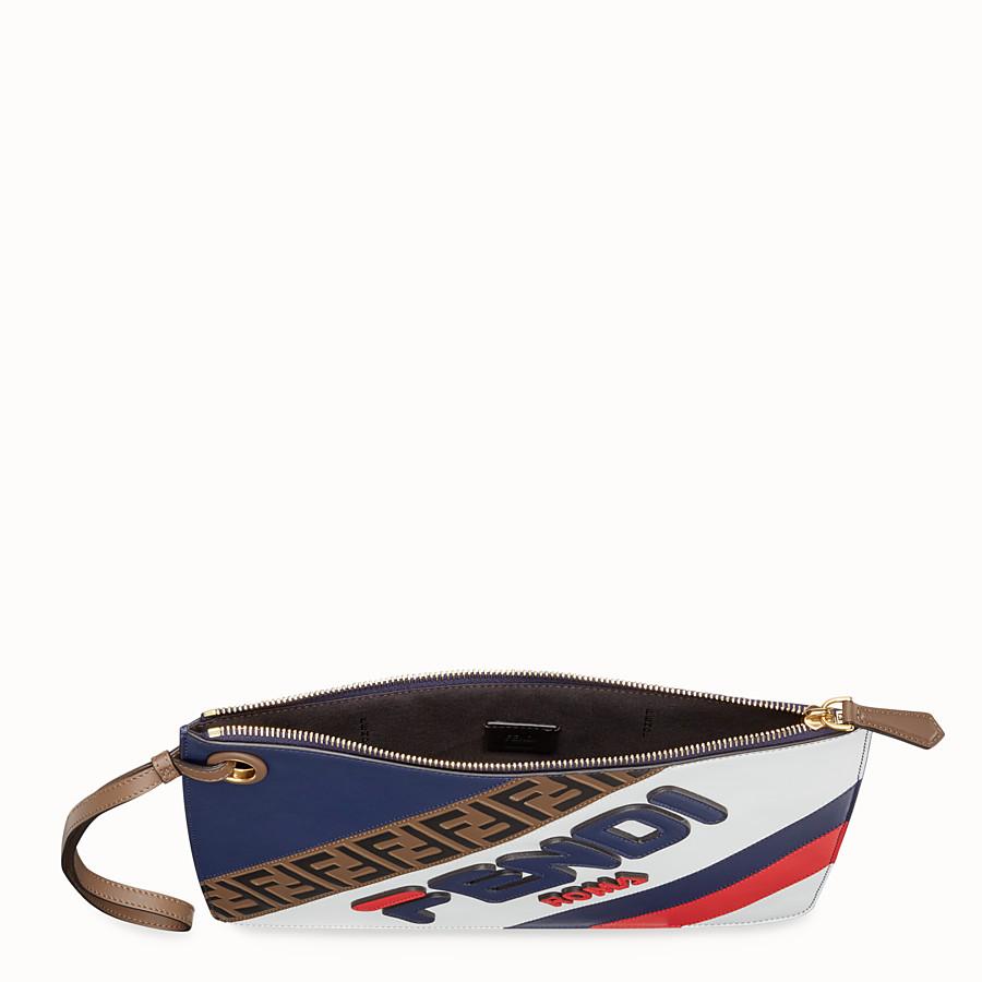 FENDI MEDIUM TRIPLETTE CLUTCH - Multicolour leather clutch - view 4 detail