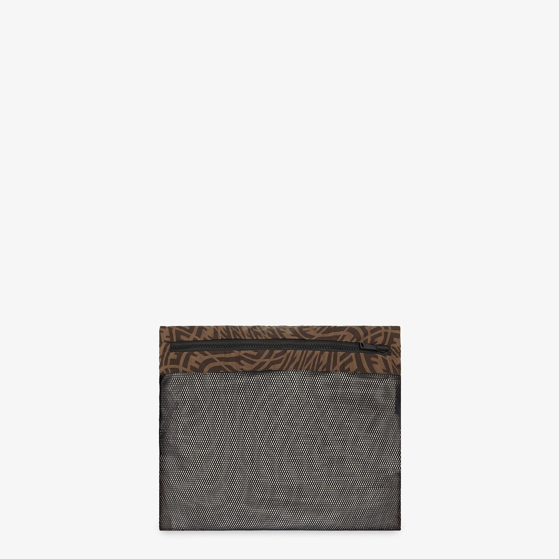FENDI CLOAK - Brown nylon cape - view 4 detail