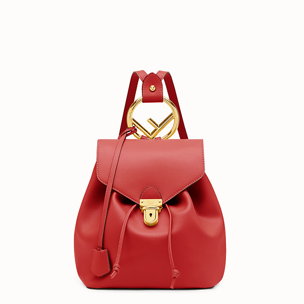 FENDI BACKPACK - Red leather backpack - view 1 small thumbnail