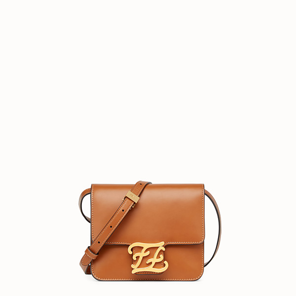 FENDI KARLIGRAPHY - Brown leather bag - view 1 small thumbnail