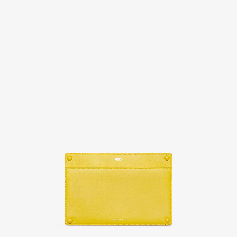 FENDI PEEKABOO ISEEU POCKET - Yellow leather accessory pocket - view 1 detail