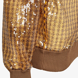 FENDI SWEATER - Check sequin sweater - view 3 thumbnail