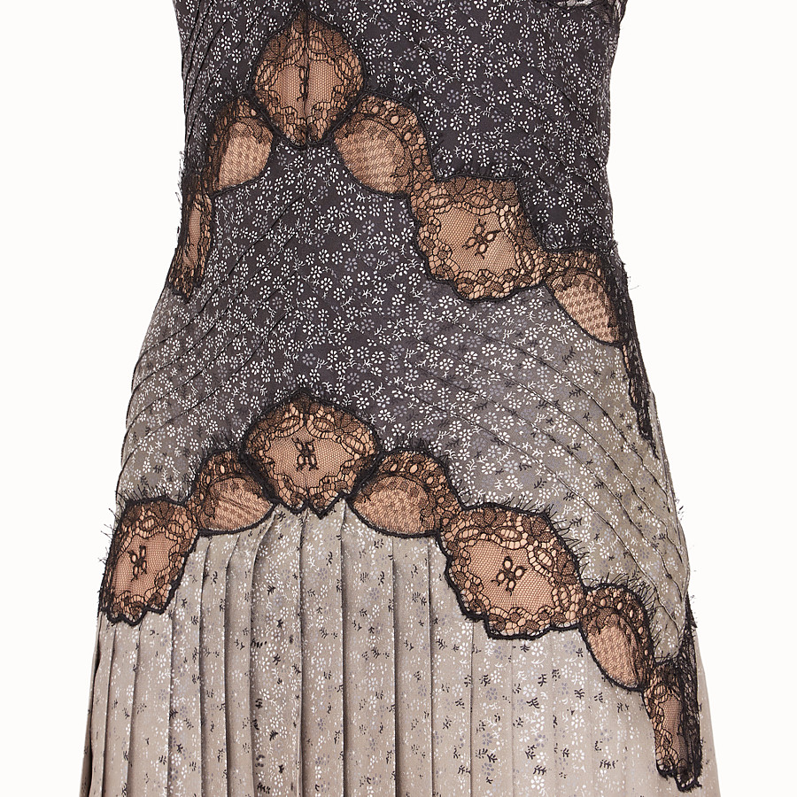 FENDI DRESS - Dress in beige silk twill - view 3 detail