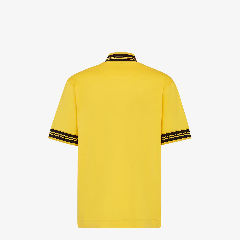 FENDI T-SHIRT - Yellow jersey T-shirt - view 2 detail