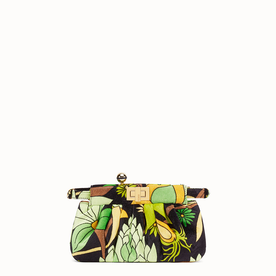 FENDI PEEKABOO CLICK - Small bag in multicolour chenille - view 4 detail