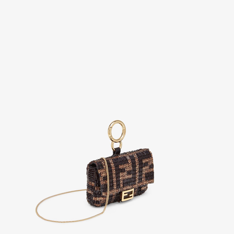FENDI NANO BAGUETTE CHARM - Charm with brown beads - view 2 detail