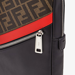 FENDI BELT BAG - One-shoulder backpack in brown fabric - view 5 thumbnail