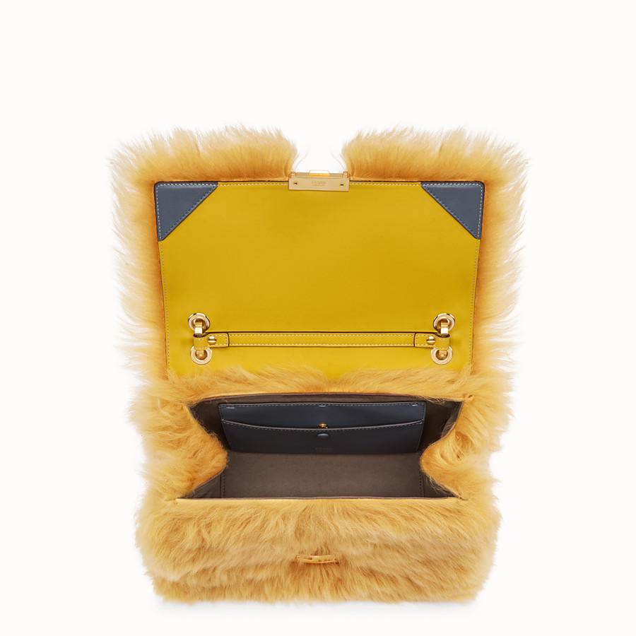 FENDI KAN U - Yellow sheepskin bag - view 4 detail
