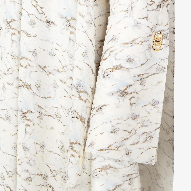 FENDI DRESS - White satin crêpe dress - view 3 detail