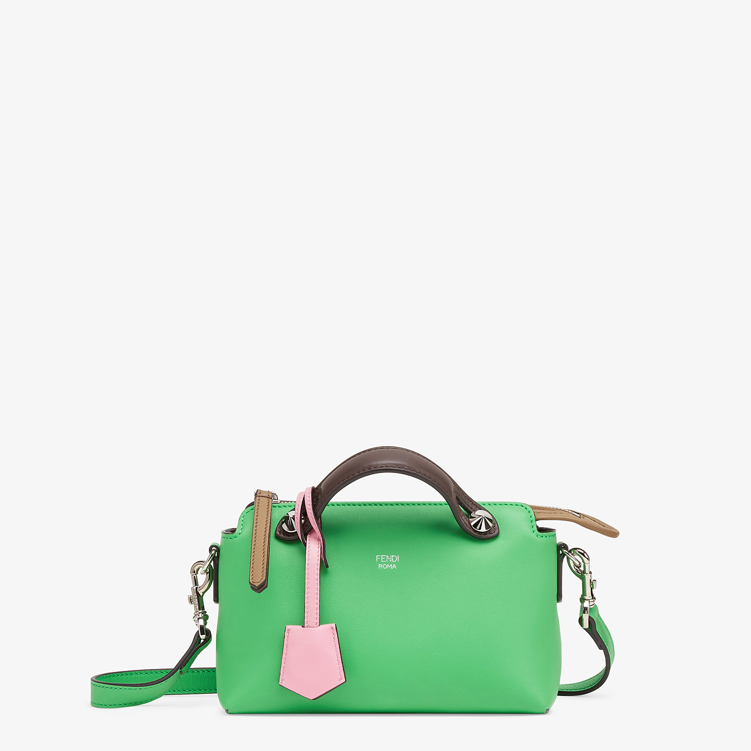 FENDI BY THE WAY MINI - Green leather small Boston bag - view 1 detail