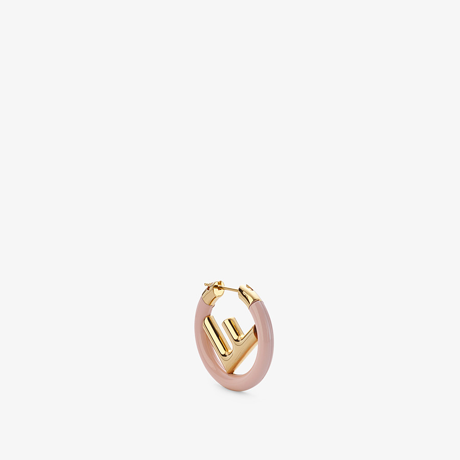 FENDI F IS FENDI EARRING - Gold and pink coloured earring - view 1 detail