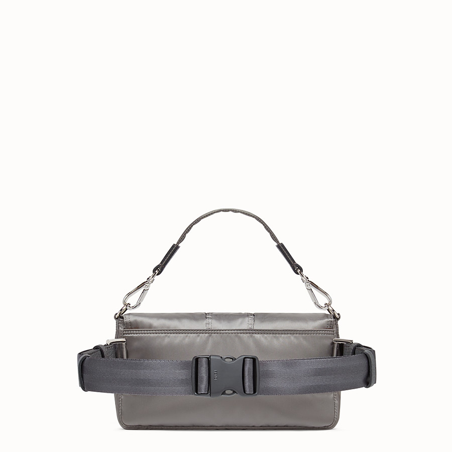 FENDI BAGUETTE FENDI AND PORTER - Silver colour nylon bag - view 3 detail