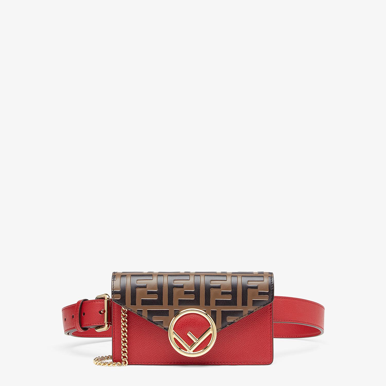 FENDI BELT BAG - Red leather belt bag - view 1 detail