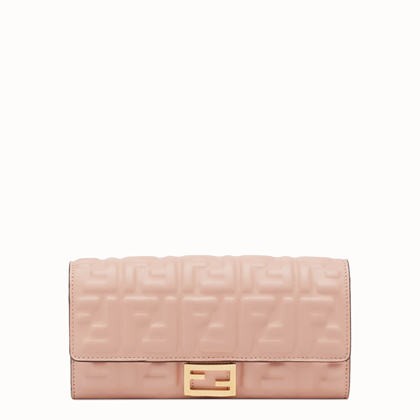 FENDI CONTINENTAL - Pink nappa leather wallet - view 1 small thumbnail