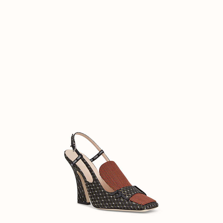 FENDI SLINGBACK - Black nappa slingbacks - view 2 detail