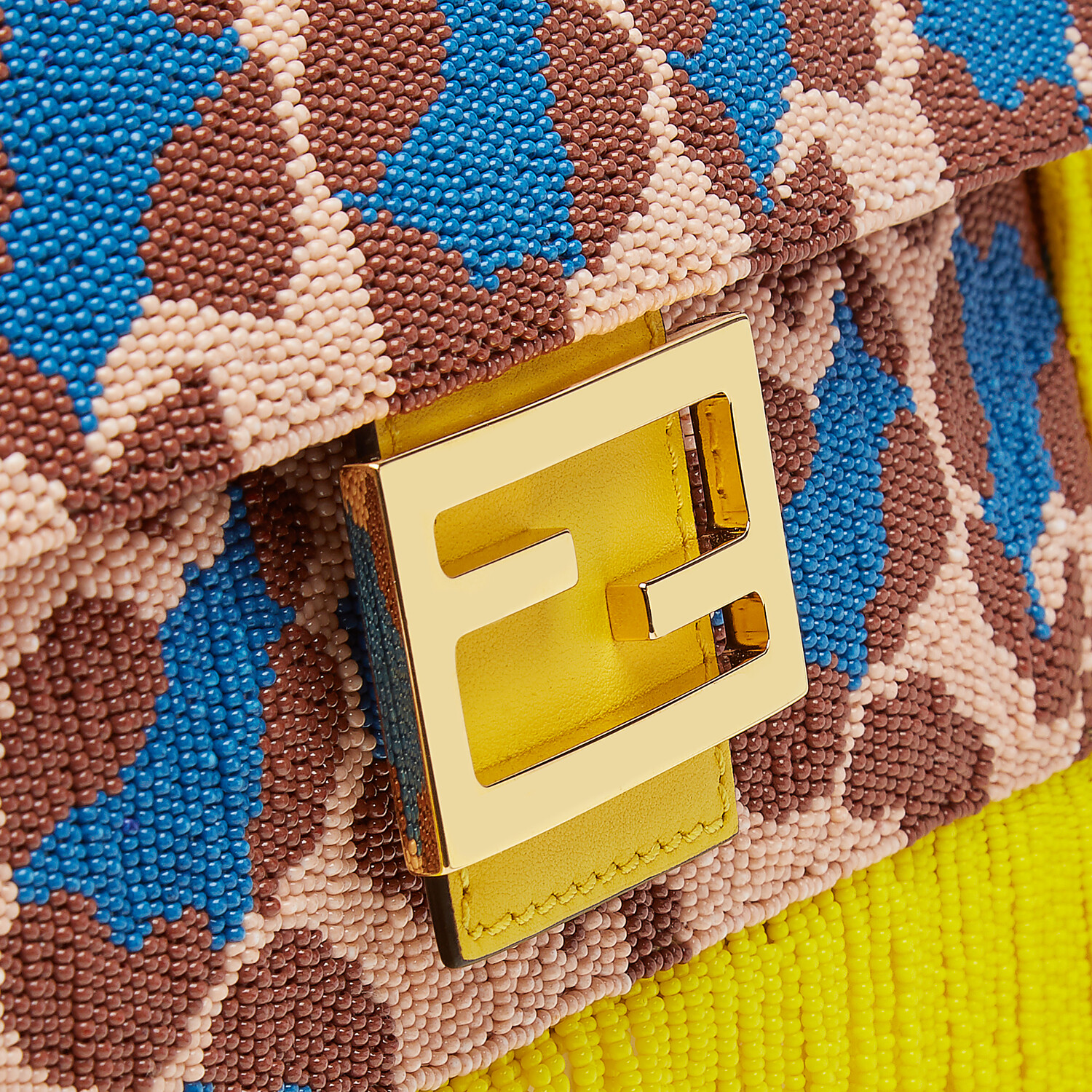 FENDI BAGUETTE - Bag with multicolor beads - view 6 detail