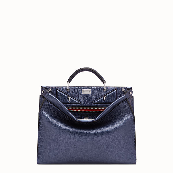 FENDI PEEKABOO FIT - Tasche aus Leder in Blau - view 1 small thumbnail