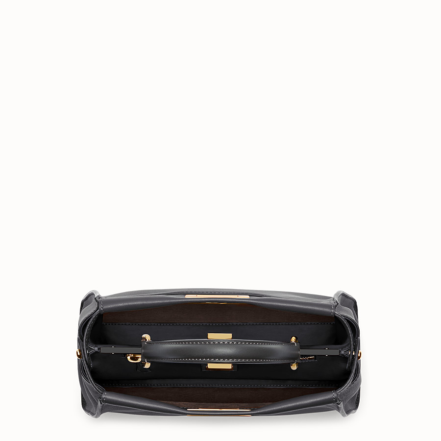 FENDI PEEKABOO REGULAR - handbag in black leather - view 4 detail