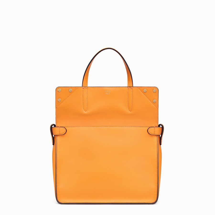 FENDI FENDI FLIP REGULAR - Orange leather bag - view 2 detail