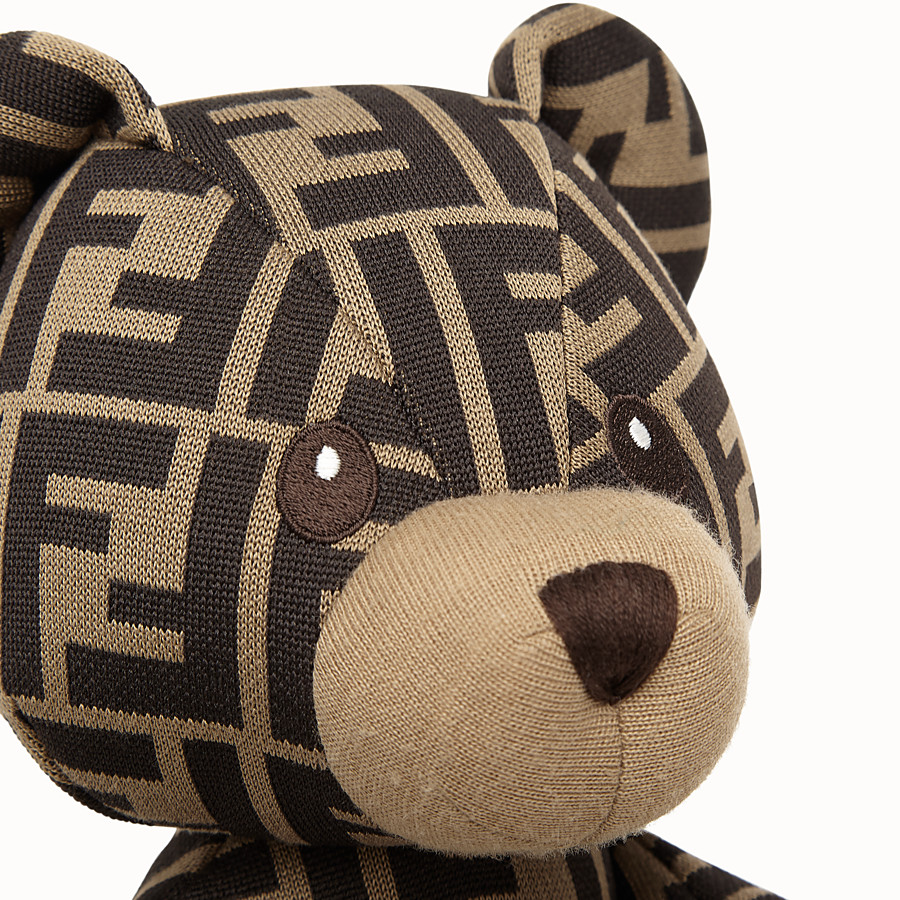 FENDI FENDI TEDDY BEAR JERSEY WITH FF LOGO - Jacquard teddy bear - view 3 detail