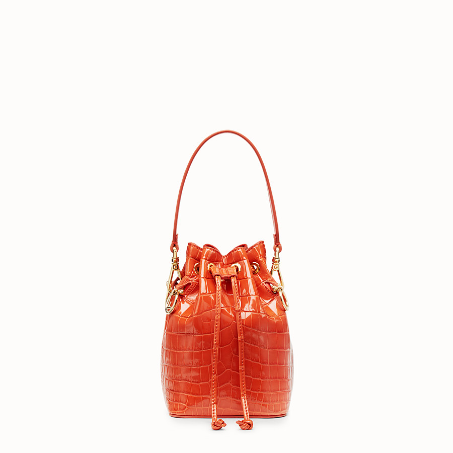 Red crocodile leather mini-bag - MON TRESOR  3e6a46c514b2d