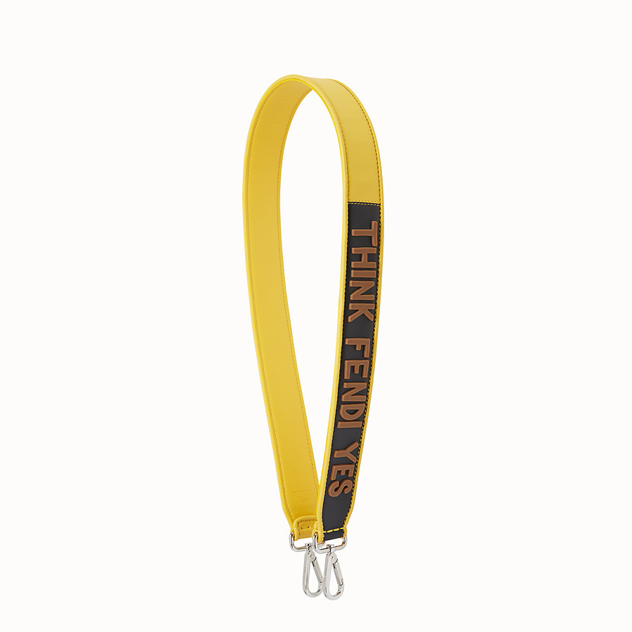 FENDI STRAP YOU - Yellow leather shoulder strap - view 1 detail